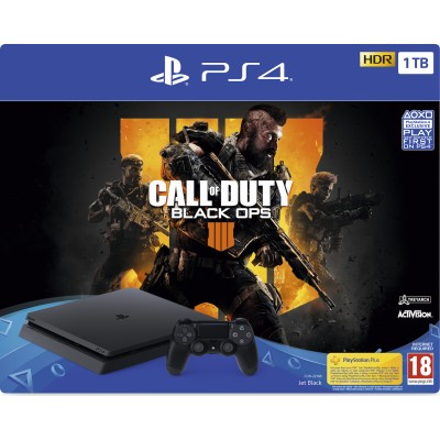 Sony PS4 Slim 1TB Μαύρο & Call of Duty: Black Ops IIII