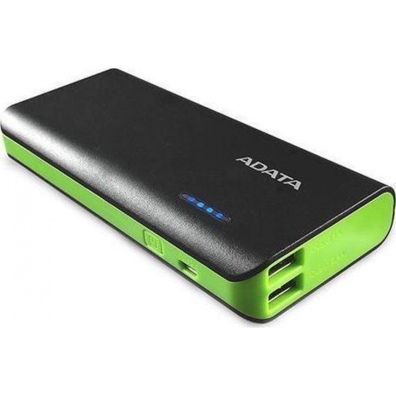ADATA Powerbank PT100 Green/Yell 10000 mAh with Flashl
