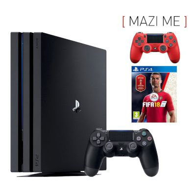 Sony Playstation 4 Pro 1 TB + FIFA 2018 + Dualshock v2 Red