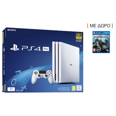Sony Playstation 4 Pro 1 TB White + God Of War